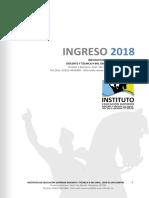 Folleto Informativo Ingreso 2018