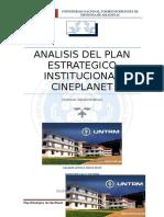 Jesica , Augusto Analisis Del Plan Estrategico Institucional Cineplanet