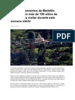 Los corregimientos de Medellín cuentan con más de 100 sitios de interés para visitar durante esta Semana Santa.docx