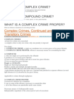 What is a Complex Crime