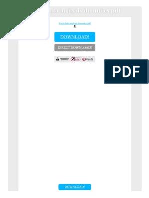 Excel Data Analysis Dummies PDF | Microsoft Excel | Data