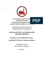 Filtración, Lavado y Eliminación de Agua-2017