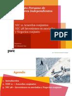 NIC 11 Acuerdos Conjuntos NIC 28 Inversiones en Asociadas y Negocios Conjunto