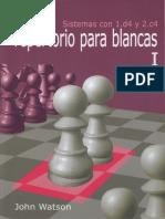 Sistemas Con 1.d4 y 2.c4 Repertorio Para Blancas I (Ocr) - John Watson
