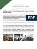 Independencia de Guatemala y Principios Basicos de La Etica