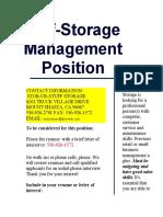 Management Position Ad