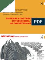 Sistemas Constructivos Convencional y No Convencional