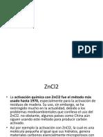 Carbon Activado ZnCl2