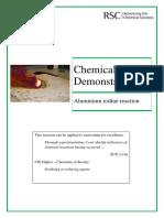 Aluminium Iodine Reaction