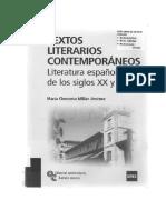 Textos Literarios Contemporáneos Literatura Española Siglos XX y XXI