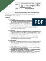 Reactor Cleaning Standard Operating Procedure