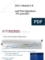 Advanced Train Operations PTC and CBTC