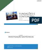 CCE0742 - FC - 1.Geotecnia - 1.Programas de Investigação - 9ºTermo