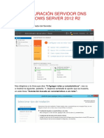 Configuración Servidor DNS Windows Server 2012 r2