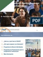 Presentacion Cooperacion Institucional DAAD Colombia