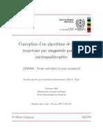 Conception d'un algorithme de suivi de trajectoire par waypoints pour un microquadricoptère