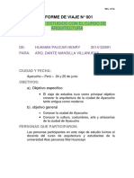 Informe de Viaje Estudios Huaman Paucar Henry