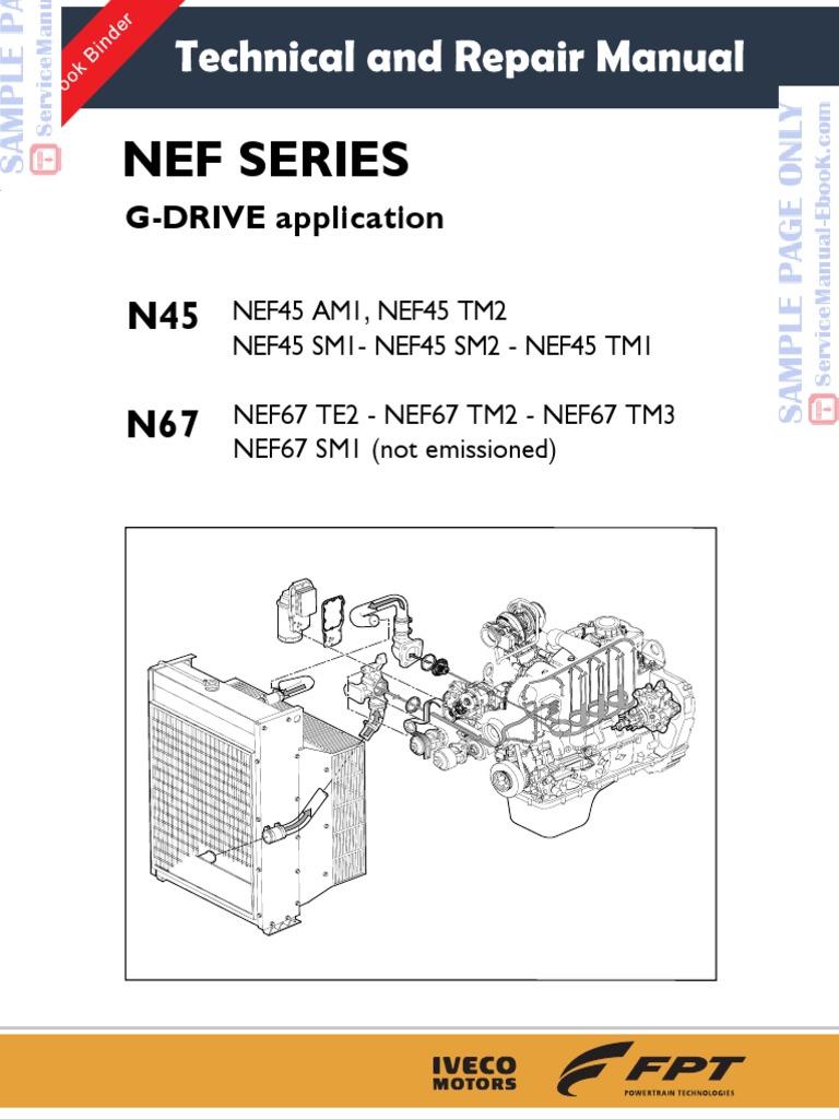 iveco cursor series c78 c10 c13 engine workshop service repair manual