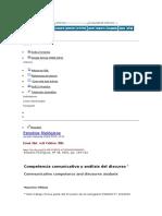Pilleux - Competencia Comunicativa y Análisis Del Discurso