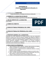 2017 Programa Comprensi n Hist Rica y Sociol Gica de La Escuela y La Educaci n