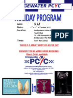 Bridgewater PCYC School Holiday Program