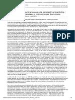 Charadeau El Contrato de Comunicación en Una Perspectiva Lingüística _ Convenciones Psicosociales y Convenciones Discursivas
