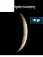 Issue of Moon Sighting