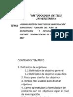 Formulacion de Objetivos (2)