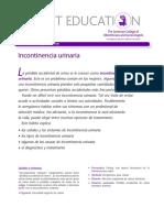 Incontinencia urinaria ACOG