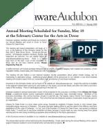 Spring 2008 Delaware Audubon Society Newsletter