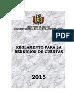 Reglamento Rendicion de Cuentas 2015