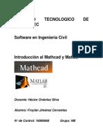 Mathcad y Matlab