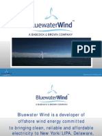 Bluewater Wind Brings Clean Renwable Energy, Price Stability,Energy Security and Reducing Global Warming