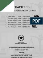 PHB - Ch 13 Hukum Persaingan Usaha