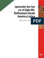 La Cooperación Sur-Sur en El Siglo XXI, Reflexiones Desde América Latina