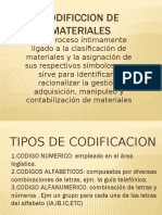 Codificcion de Materiales