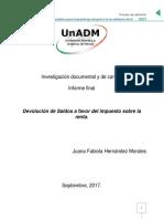 Juana Hernández Informe. Investigación documental y de campo