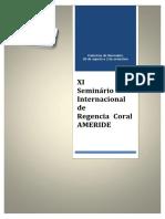 Libro XI Seminario Internacional de Regencia Coral Ameride 2017