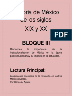 Los procesos esenciales de la Revolución en Los Tres mexicos Diversos de Aguirre Rojas Carlos