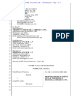 USA v Arpaio # 228.1 AMICUS BRIEF - Protect Democracy Project