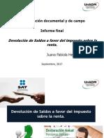 Juana Hernández Presentación informe