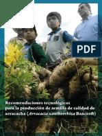 Recomendaciones Tecnológicas Para La Producción de Semilla de Calidad de Arracacha Arracacia Xanthorrhiza Bancroft