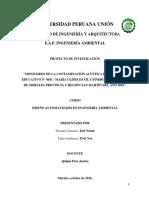 """""""MONITOREO DE LA CONTAMINACIÓN ACÚSTICA EN EL CENTRO EDUCATIVO N° 0031 - MARÍA ULISES DÁVILA PINEDO DEL DISTRITO DE MORALES PROVINCIA Y REGIÓN SAN MARTÍN DEL AÑO 2016""""."""