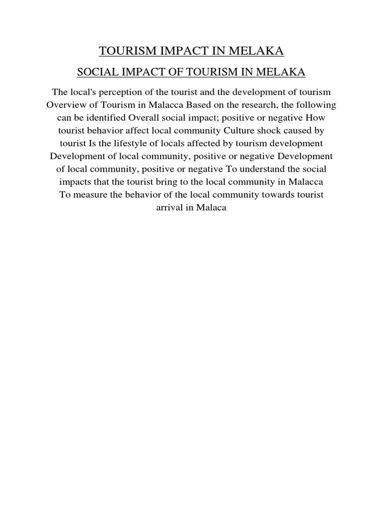 tourism industry in melaka