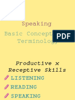 Presentation on Speaking - Skills