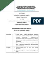 Sk Kebijakan Penggunaan Alat Pelindung Diri (Apd)