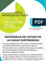 Agua Subterranea e Hidrologia de Pozos