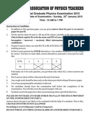 2015 Question Paper Ngpe 2015pdf Matter Electron