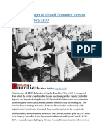 Sri Lanka  Danger of Closed Economy  Lesson learned from Pre-1977.docx