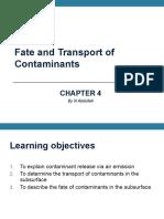 Lecture 4 Fate Contaminant